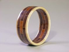 Woodturning | ... to Bangle Bracelet Segmented Woodturning - Brick Design on Etsy