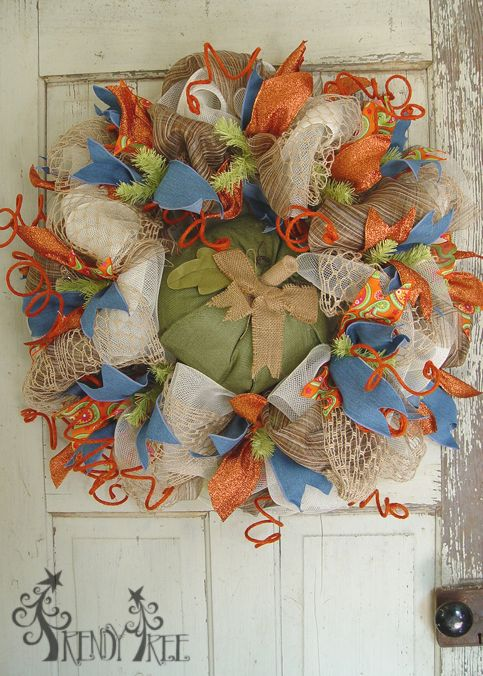 Autumn Wreath With Wooden Pumpkin Tutorial Trees Cars