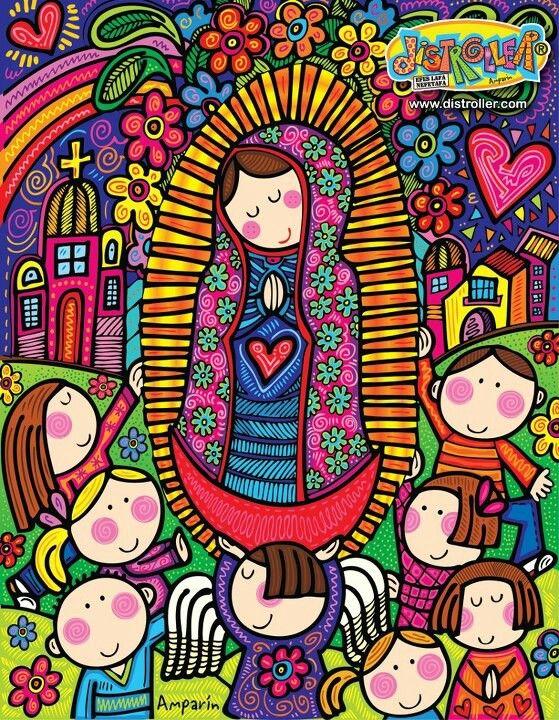 """Celebrando a la virgencita @Distroller. Por Distroller, marca creada por Amparo """"Amparin"""" Serrano."""
