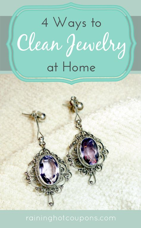 4 Ways To Clean Jewelry At Home 3.Aluminum Foil: This method is best for silver items. Make a small bowl out of tinfoil and lay out silver jewelry on tinfoil. Sprinkle baking soda over top of the items and then proceed to pour boiling water over the baking soda. Move the jewelry around slightly to release any dirt. Once finished, rinse with cold water see link for 3 more + alka seltzer, light beer & toothpaste