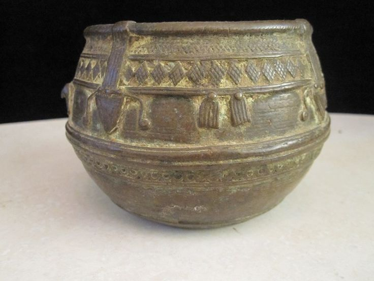 $110 · Antique 1800's Anglo Indian handmade brass bowl with wonderful patina