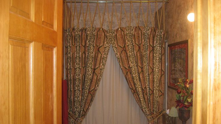 Two Panel Shower Curtain With Valance