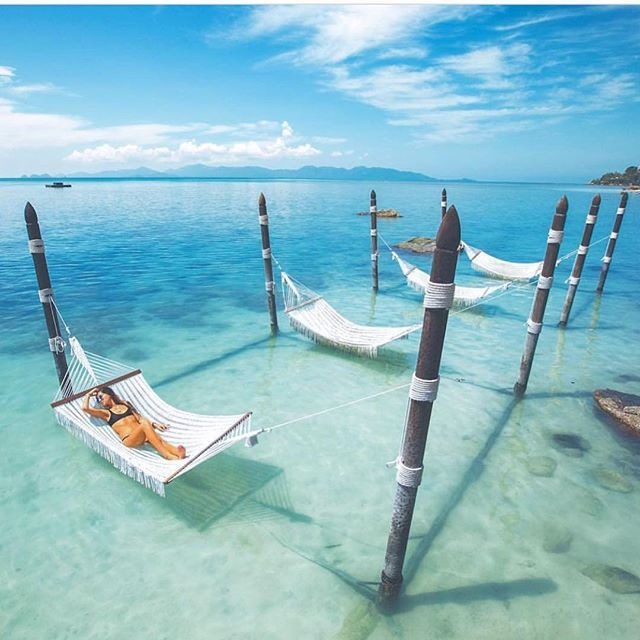 "Yep.... me just chilling on that hammock.... no I lie. I WISH OMGGGG!! Firstly, I just found this on the explore page on Instagram AMAZING. It was on one of those ""beautiful places"" pages, but didn't say where the place was.... so if anyone knows 1. Who's photo this is and 2. WHERE this is, that would be much appreciated www.kaylaitsines.com/app update - photo credit - @hannahh_davis"