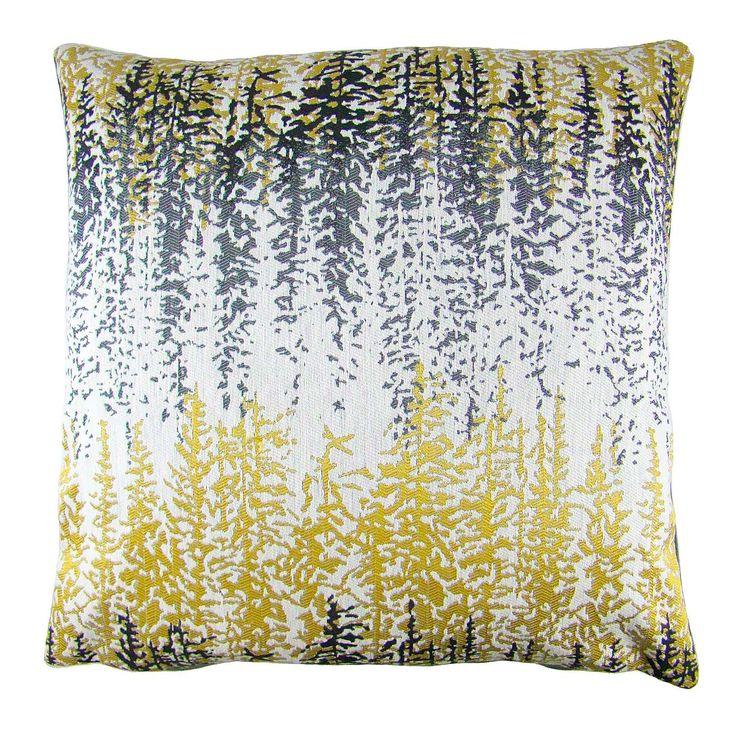 Margo Ochre Forest Cushion Cover | Dunelm