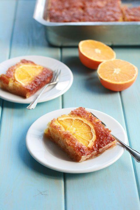 Portokalópita - easy orange pie for lazy but inspired cooks!! / cookmegreek