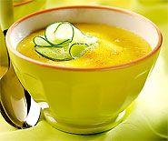 Kalte Mango-Gurken-Suppe