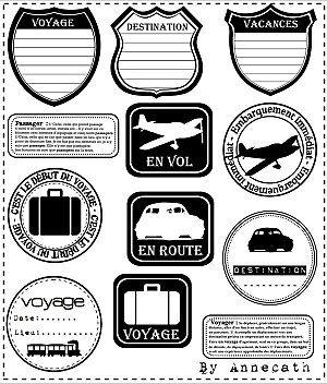 """Des étiquettes """"Voyage"""""""