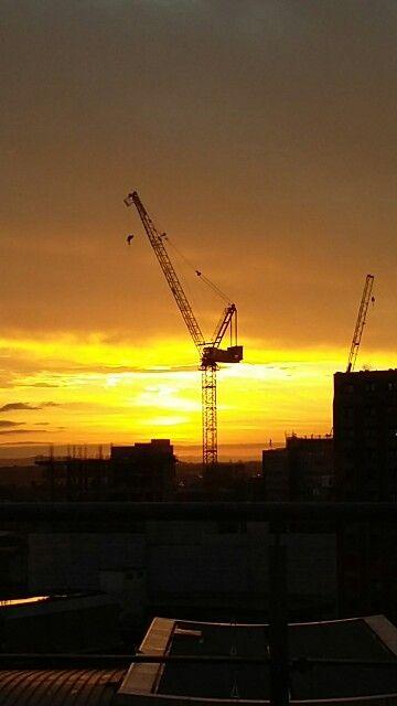 Bristol skyline at dawn.