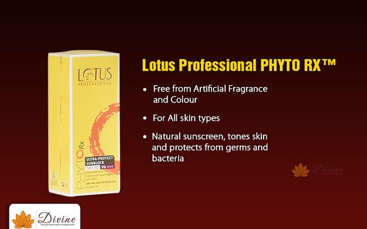 Protect your skin from the harmful rays with Lotus Professional PHYTO RX  Contact no: 8939965556 #Divine #FamilySalon #WeddingStudio #BridalMakeup #BeautyTips #Weddingmakeup #Kryolan #MAC #Airbrush #makeup #studio