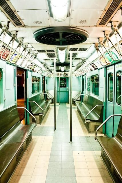 Step back in time with this photograph and ride the New York City Subway. Close your eyes and imagine what it was like to ride on this railroad