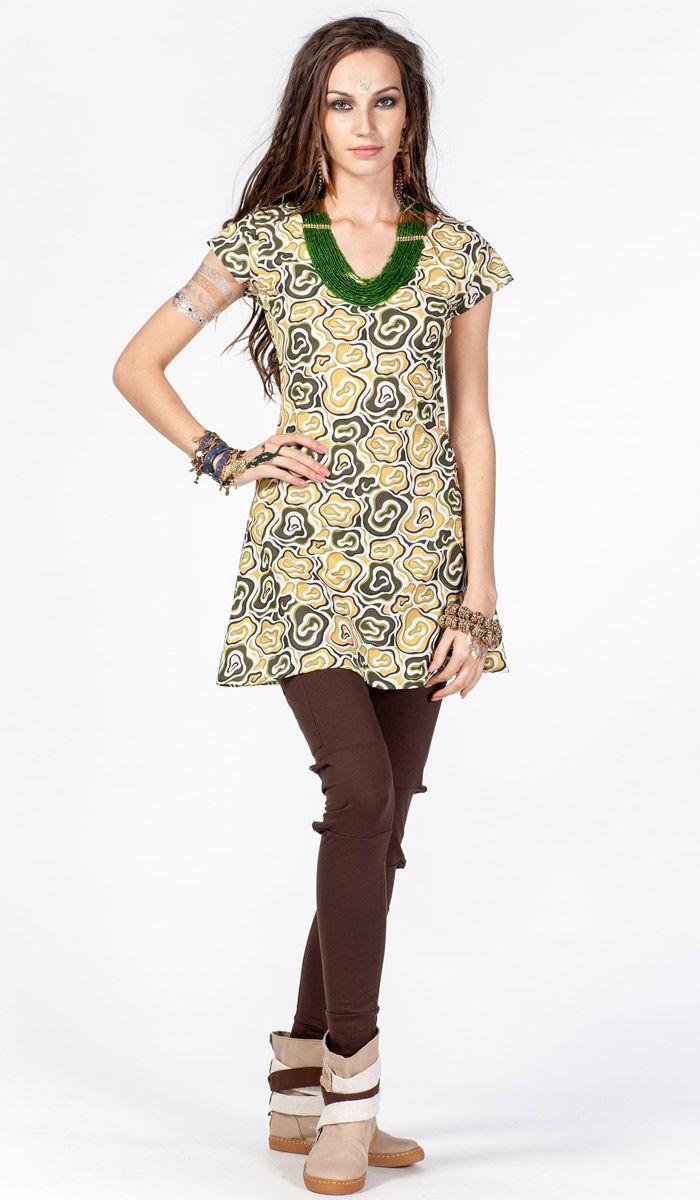 Этническое платье-туника, платье в стиле бохо, платье с бахромой, boho dress, dress bohemian style, tunic, 1260 рублей
