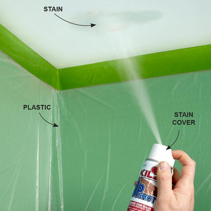 Cover Up a Ceiling Stain - 10-Minute House Repair and Home Maintenance Tips…