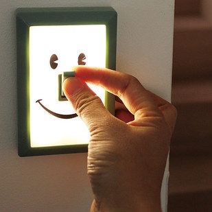 have a son or daughter who's afraid of the dark? put one of these lights on their wall beside their bed.
