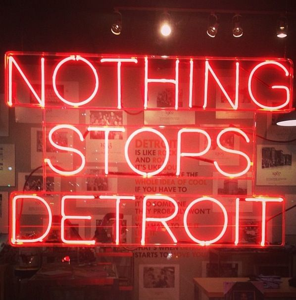 Detroit!!! NOTHING STOPS YOU DETROIT!!! NOTHING