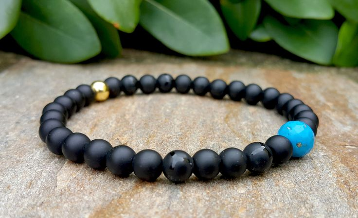 Minimalist Mens Birthstone Stretch Bracelet, High Quality Turquoise Citrine Ruby Emerald Amethyst Black Onyx Bracelet, Mens Birthday Gift
