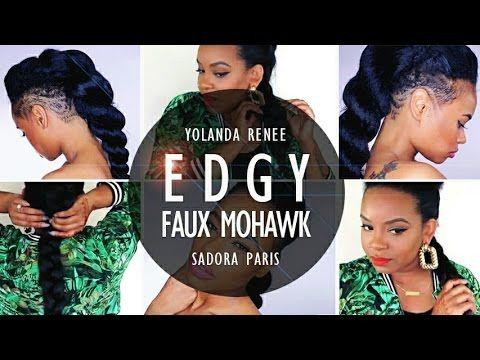 EDGY Braided Faux Mohawk On Short Natural Hair - http://community.blackhairinformation.com/video-gallery/natural-hair-videos/edgy-braided-faux-mohawk-short-natural-hair/