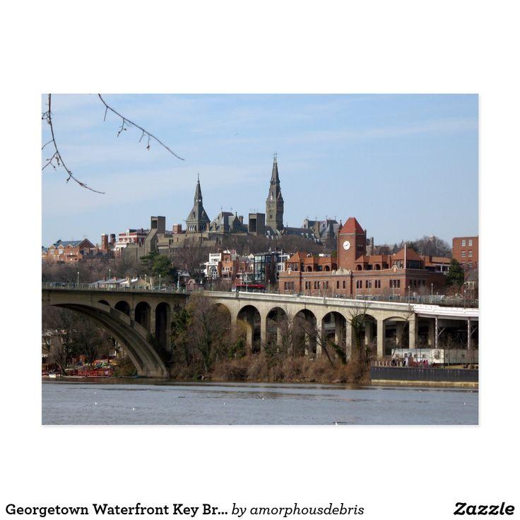 Georgetown Waterfront Key Bridge Potomac Postcard