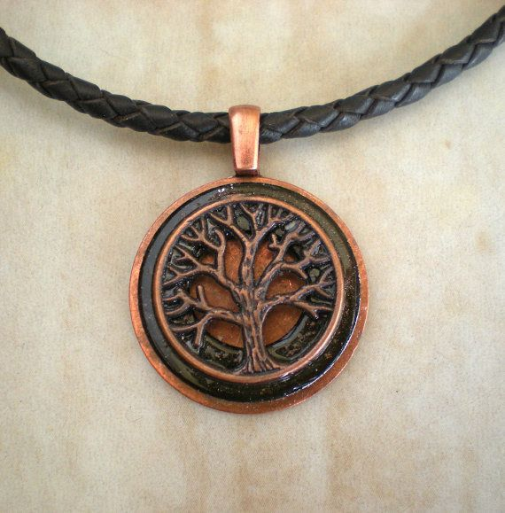 Mens Necklace Copper Tree Mens Jewelry By