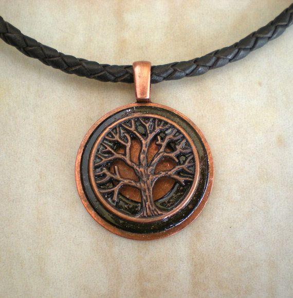 Mens Necklace Copper Tree Mens Jewelry by MaddDoggofTomorrow, $30.00