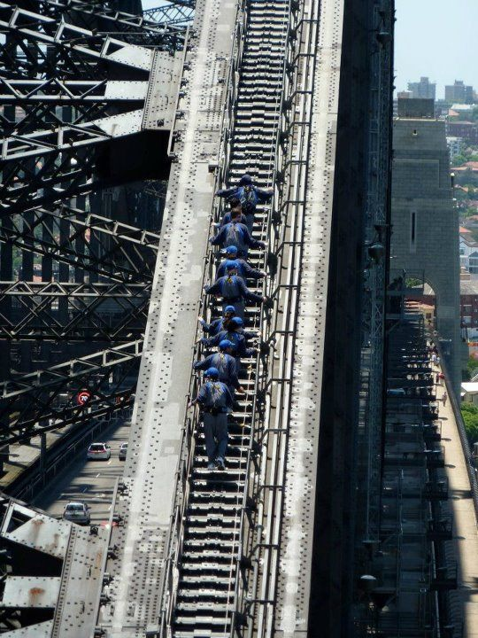 Climbing Sydney Harbour Bridge - Australia - seen! Wow!