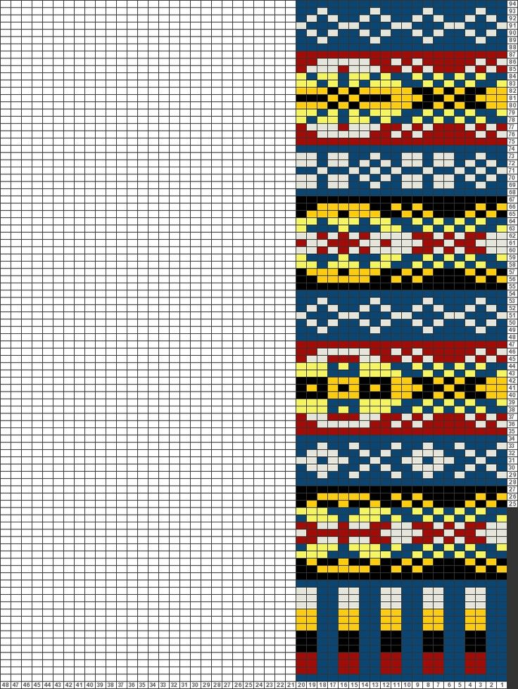 Tricksy Knitter Charts: Fair Isle Pullover - Pattern by Ethel Brown by Nicholas Wiseman-Ellis