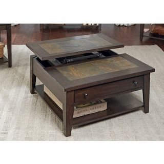 Shop for Hearthstone Dark Oak and Slate Lift-Top Square Cocktail Table. Get free shipping at Overstock.com - Your Online Furniture Outlet Store! Get 5% in rewards with Club O!