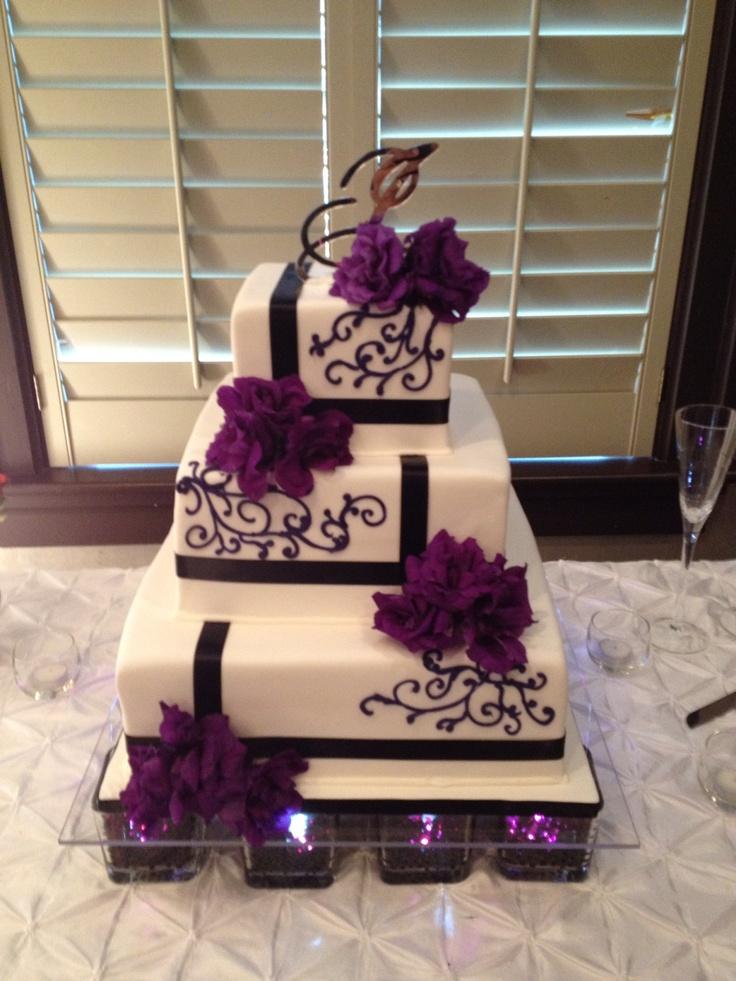 Purple And Black Wedding Cake Cakes By Lameeka