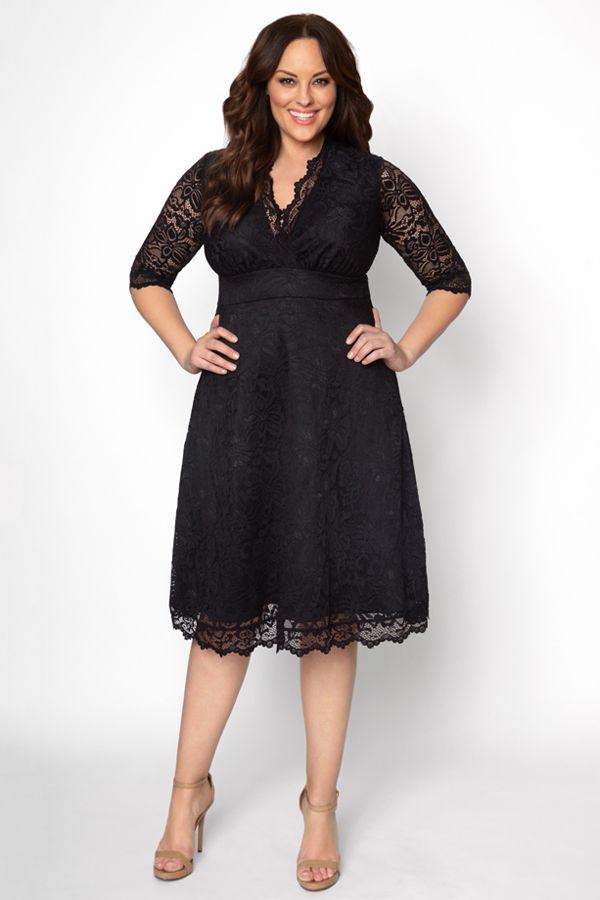 Plus Size Little Black Dresses Plus Size Dresses Cocktail Dress Lace Elegant Dresses