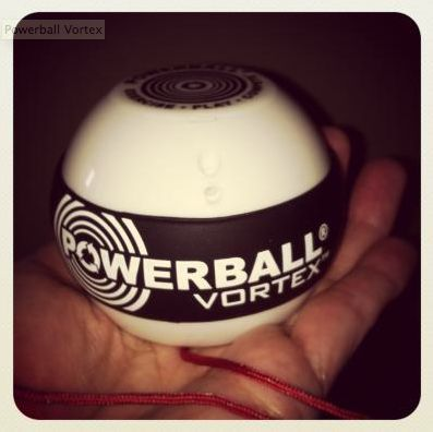 The #PowerballVortex works nicely as one aspect of how you might exercise your hands, wrists, arms and shoulders. It's a fun little game – where you use hand, wrist and arm motions to control the hand-held Powerball as a smaller rotor spins super-fast inside it. #fitness @VIVA from Best Buy