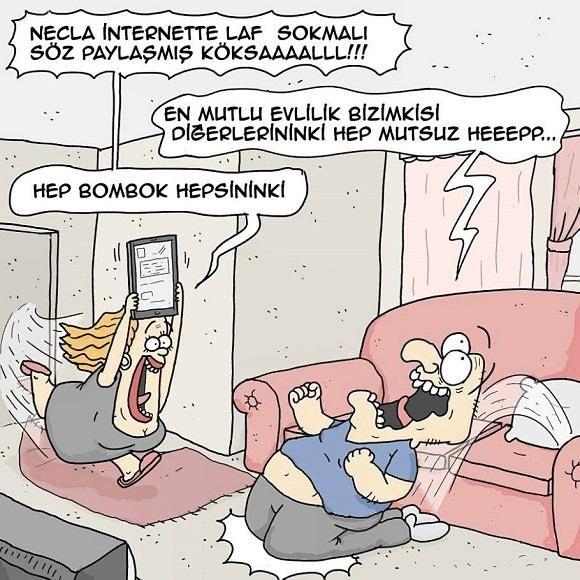 Mutlu Evlilik Karikatürü Şeref Efendiler | Karikatürname