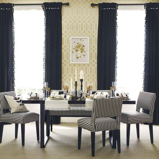 Elegant wallpaper for dining