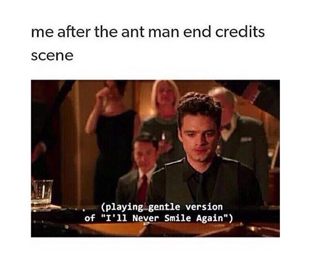 YEP. I went to see that movie four times and the last three I swear it was just for the post-credits scene.