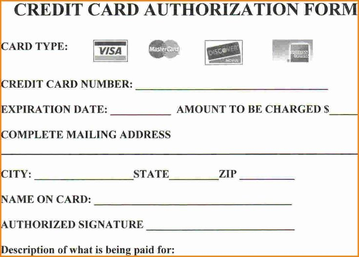 Looking To Download Credit Card Authorization Form Then You Are