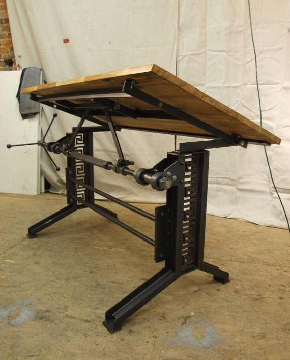 Amazing French Industrial Drafting Table Desk By CamposIronWorks On Etsy, $2390.00