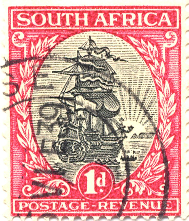 Really elegant ship on this South African stamp