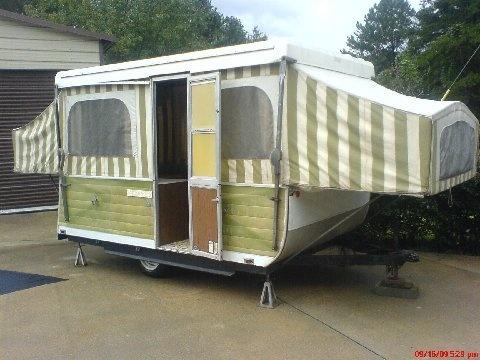 Laura Heilman Little Green 1973 Steury Pop Up Camper