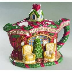 Fitz & Floyd The Night Before Christmas Teapot