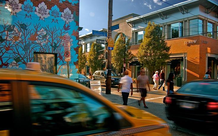 Shadyside, Pittsburgh. My street- Walnut.