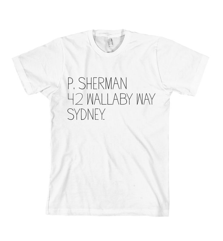 P. Sherman T-Shirt http://shop.nylonmag.com/collections/whats-new/products/p-sherman-t-shirt