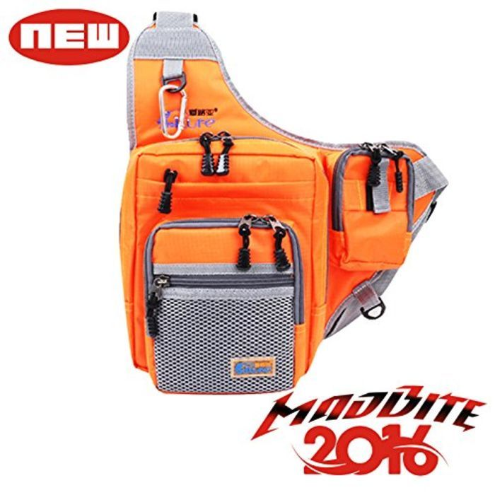 Waterproof fishing tackle backpacks madbite slingback for Fishing tackle bags