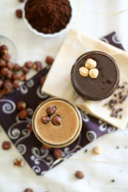 Hazelnut Butter and Chocolate Hazelnut Butter