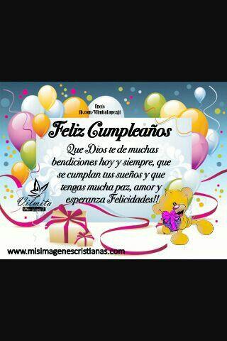 Feliz cumpleaños ...