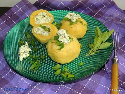 Moje Małe Czarowanie: Kluski ziemniaczane z farszem serowym