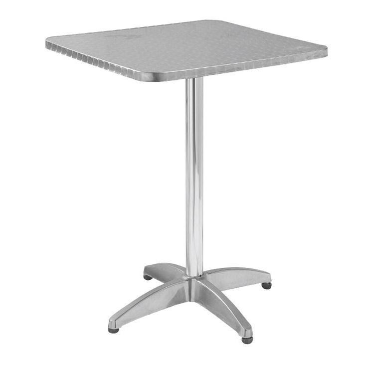 Palma garden food table aluminum 60x60x70 Ε284,2