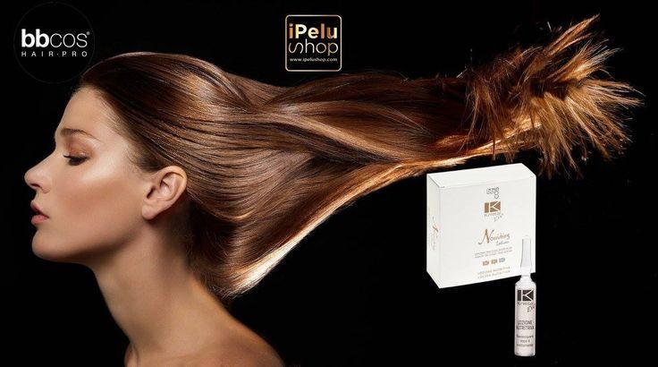 """BBCOS KRISTALEVO LINE Nourishing lotion. El tratamiento """"con enjuague"""" ideal para los cabellos tratados y secos. Gracias a su fórmula específica con Semillas de Lino y Aceite de Argán, Nourishing Lotion es perfecto después del tinte, decoloraciones o permanentes para descongestionar el cuero cabelludo y eliminar los residuos de los tratamientos alcalinos. Además, asegura nutrición, brillo y facilidad de peinado del cabello."""