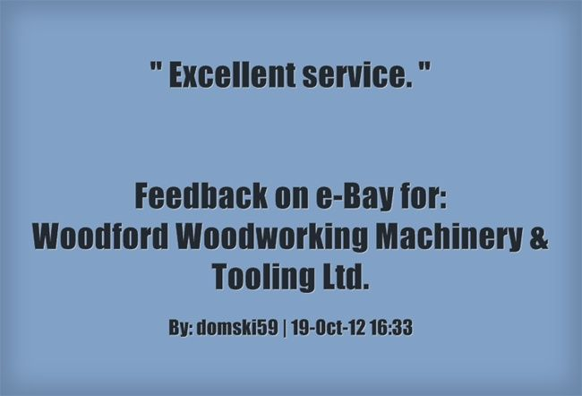 Excellent service. ~domski59 http://stores.ebay.co.uk/woodfordwm ...