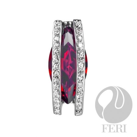 An amazing item from the FERI designer lines collection for $180 only. Message us to get 20% off.  It is made of .925 fine sterling silver with a 0.5 micron natural rhodium plating (also set with AAA white cubic zirconia & red cubic zirconia).  Our customers enjoy a $15 shopping credit & upto 10% rebate on purchases.  We are also hiring & expanding our team so if you are looking to make some additional income on the side & be part of an exciting industry visit…