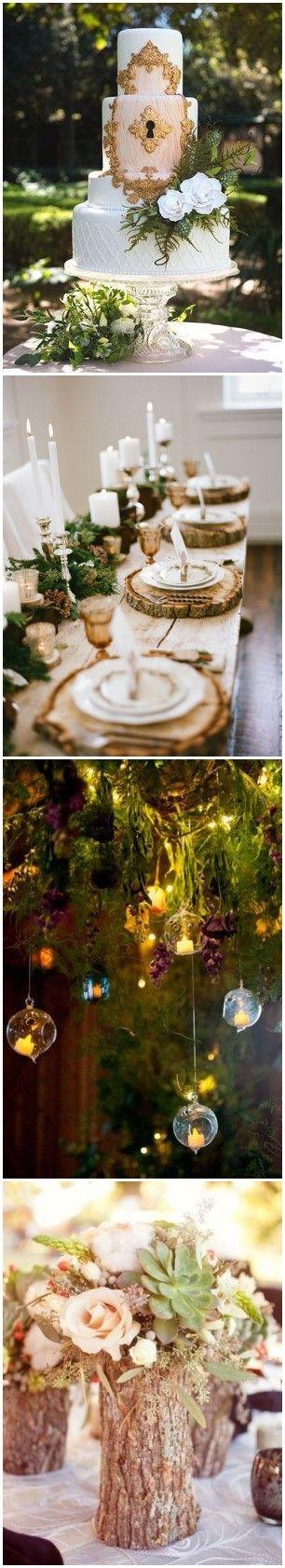 20+ Enchanted Forest Wedding Themed Ideas #wedding