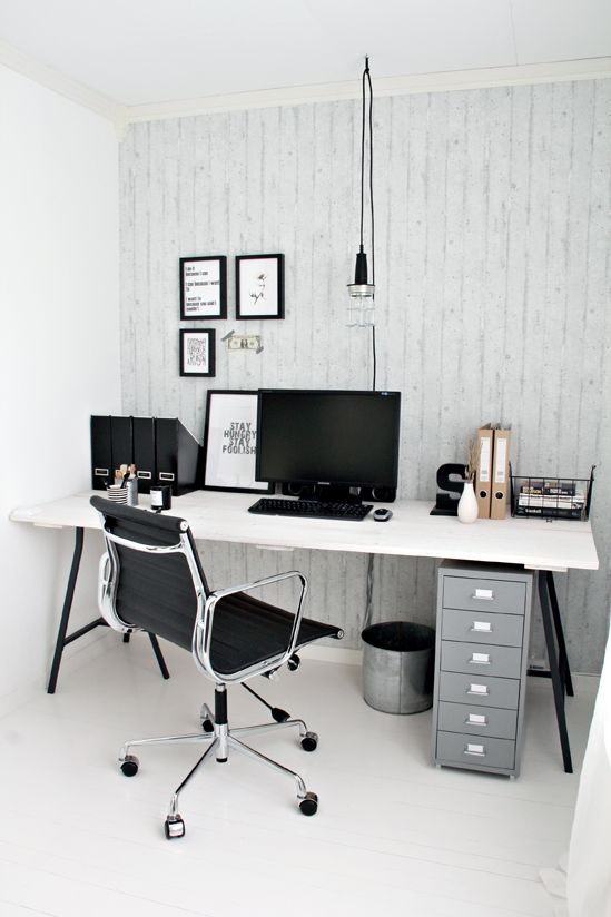 black white home office inspiration. industrial workspace home office inspiration black white n