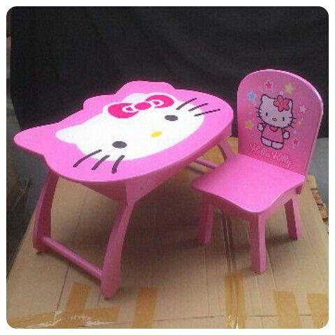 Meja lipat anak dengan bentuk kepala #hellokitty